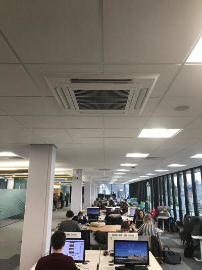 Mitsubishi Heat Recovery VRF | Aerocool Ltd | Hugh Owen Library | Aberystwyth University | Air Conditioning | Refrigeration